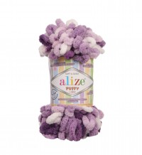Пряжа Alize Puffy Color меланж (5923)