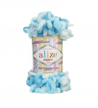 Пряжа Alize Puffy Color меланж (5924)