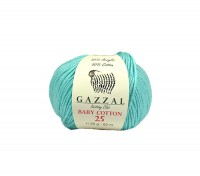 Пряжа Gazzal Baby Cotton 25 бирюза (3452)