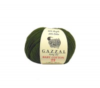 Пряжа Gazzal Baby Cotton 25 хаки (3463)
