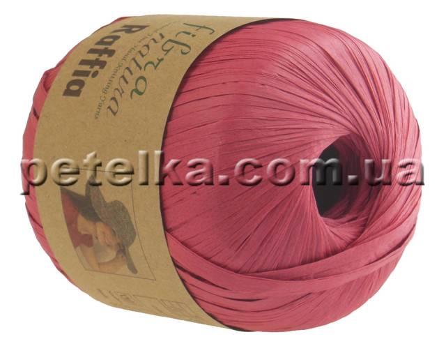 116-06 - Raffia - красный коралл - Fibranatura