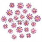 SE089D - Набор пуговиц  25 шт. Wood Button Medley - Pink Daisy - Multicraft Imports
