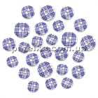SE089E - Набор пуговиц  25 шт. Wood Button Medley - Blue Plaid - Multicraft Imports