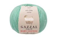 Пряжа Gazzal Baby Cotton мятный (3425)