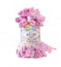 Пряжа Alize Puffy Color меланж (6051)