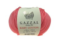 Пряжа Gazzal Baby Cotton нежно-коралловый (3435)