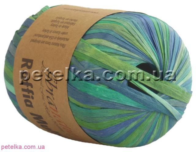 117-05 - Raffia Multi - меланж зеленый - Fibranatura