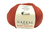 Пряжа Gazzal Baby Cotton терракот (3454)