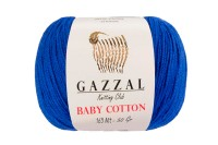 Пряжа Gazzal Baby Cotton электрик (3421)