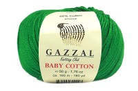 Пряжа Gazzal Baby Cotton зеленый (3456)