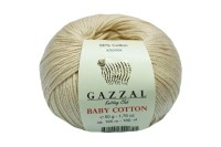 Пряжа Gazzal Baby Cotton крем-брюле (3445)