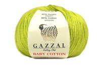 Пряжа Gazzal Baby Cotton олива (3457)