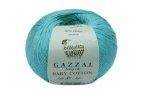 Пряжа Gazzal Baby Cotton бирюза (3452)