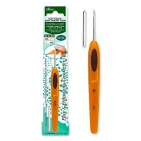 1026 - Крючок - Soft Touch Steel Crochet Hook - 0,6 мм - 13,5 см - Clover