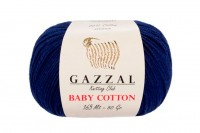 Пряжа Gazzal Baby Cotton темно-синий (3438)