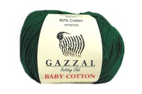 Пряжа Gazzal Baby Cotton изумруд (3467)