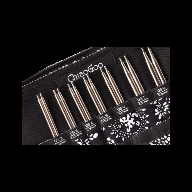 7500-S - набор сменных стальных спиц TWIST Red Lace Small- ChiaoGoo