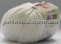 55 - Baby Wool - белый - Alize