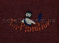 Термоаппликация - The Primitive - бордовая - 4,5 см х 3,3 см - Евролайн
